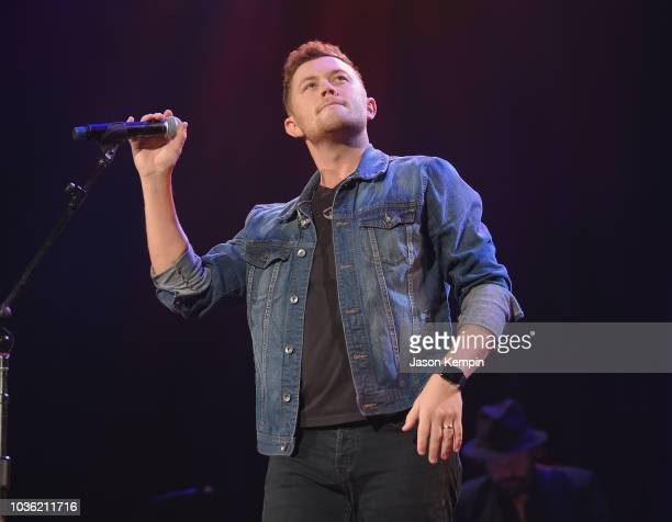 Scotty McCreery performs onstage at the Nashville Songwriters Awards 2018 at Ryman Auditorium on September 19 2018 in Nashville Tennessee