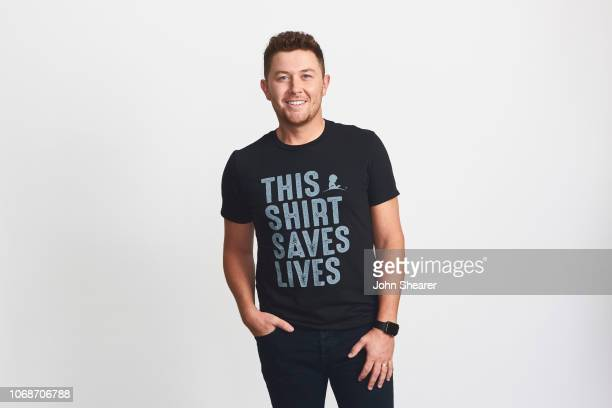 Scotty McCreery wears the new #ThisShirtSavesLives for St Jude Children's Research Hospital on September 19 2018 in Nashville Tennessee