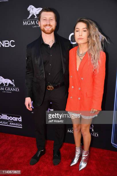 Scotty Sire and Kristen McAtee attend the 2019 Billboard Music Awards at MGM Grand Garden Arena on May 1 2019 in Las Vegas Nevada