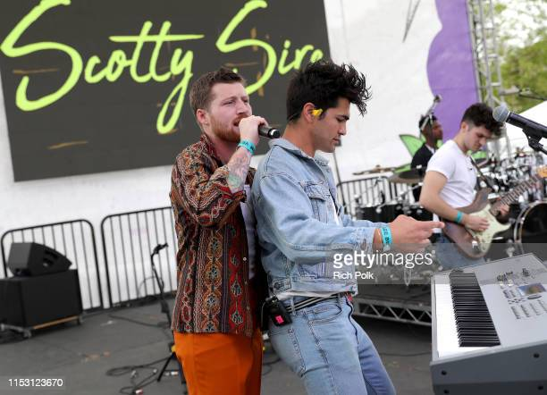 Scotty Sire and Toddy Smith perform onstage during the KIIS FM Wango Tango Village at 2019 iHeartRadio Wango Tango at Dignity Health Sports Park on...