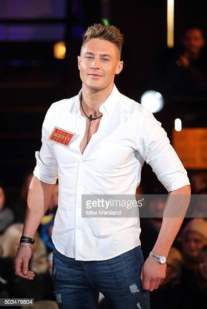 Scotty T enters the Celebrity Big Brother House at Elstree Studios on January 5 2016 in Borehamwood England