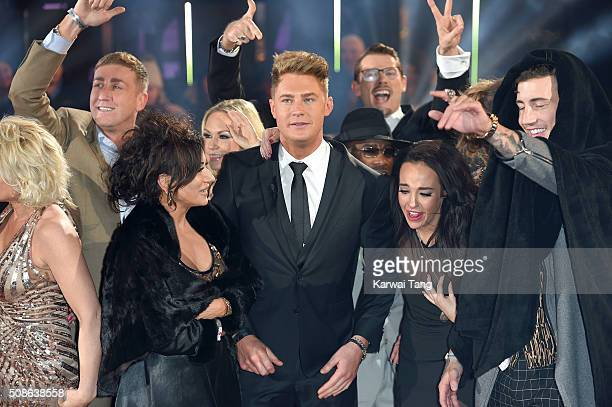 Scotty T is crowned the winner of Celebrity Big Brother at Elstree Studios on February 5 2016 in Borehamwood England