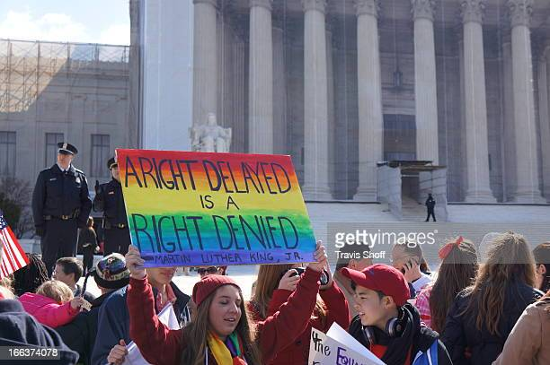 Scotus decides on Doma while Marriage Equality Supporters Rally outside