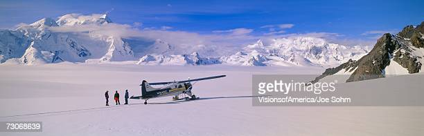 """Scout bush airplane, Wrangell-St. Elias National Part, Alaska"""