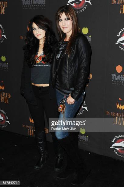 Scout Compton and Lauren Summers attend 2nd Annual Los Angeles Haunted Hayride at Griffith Park's Old Zoo on October 10 2010 in Los Angeles CA