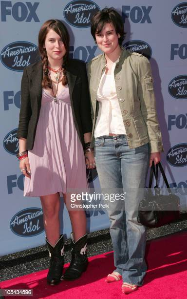 Scout LaRue Willis and Rumer Willis during 'American Idol' Season 4 Finale Arrivals at The Kodak Theatre in Hollywood California United States