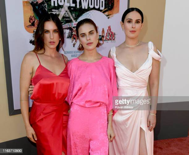 """Scout Larue Willis, Tallulah Belle Willis and Rumer Willis arrive at the premiere of Sony Pictures' """"One Upon A Time...In Hollywood"""" at the Chinese..."""