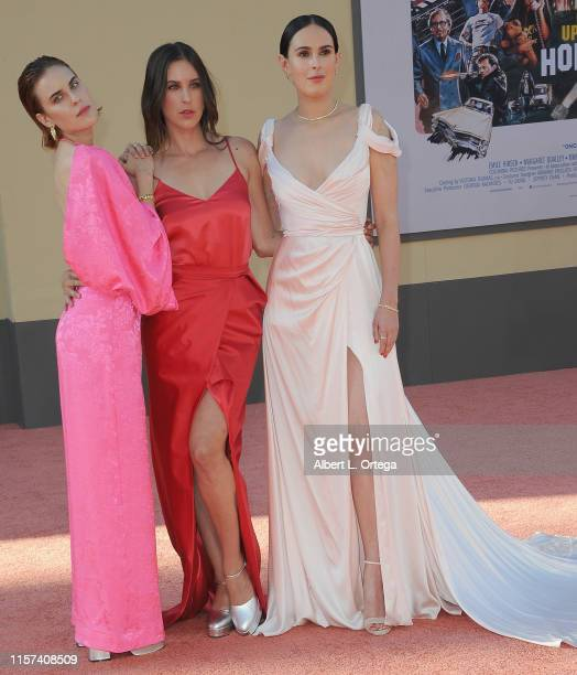 """Scout LaRue Willis, Tallulah Belle Willis and Rumer Willis arrive for the Sony Pictures' """"Once Upon A Time...In Hollywood"""" Los Angeles Premiere held..."""