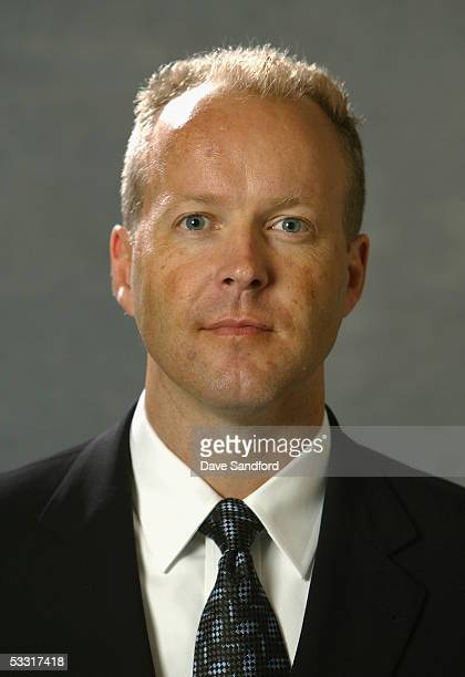 Scout Shawn Simpson of the Toronto Maple Leafs poses for a portrait during the 2005 National Hockey League Draft on July 30 2005 at the Westin Hotel...