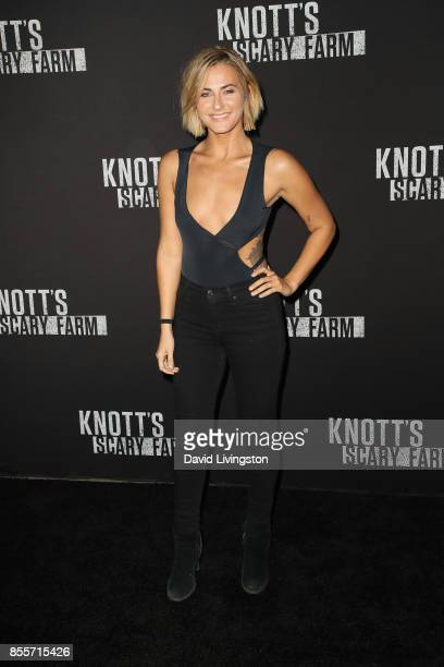 Scout TaylorCompton attends the Knott's Scary Farm and Instagram's Celebrity Night at Knott's Berry Farm on September 29 2017 in Buena Park California