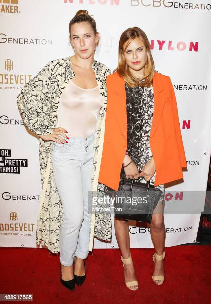 Scout Willis and Tallulah Willis arrive at the Nylon Magazine May Young Hollywood Issue Party held at Tropicana Bar at The Hollywood Rooselvelt Hotel...
