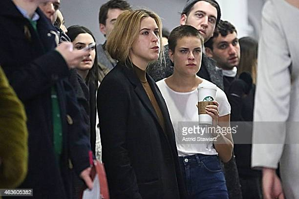 Scout Willis and Tallulah Willis attend Eckhaus Latta Front Row during MADE Fashion Week Fall 2015 on February 16 2015 in New York City