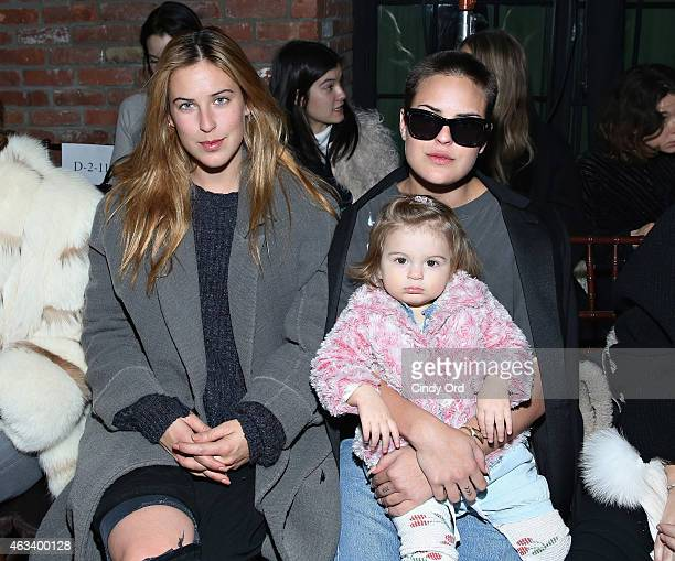Scout Willis and Tallulah Willis attend the Rodebjer fashion show during MercedesBenz Fashion Week Fall 2015 at The Bowery Hotel on February 13 2015...