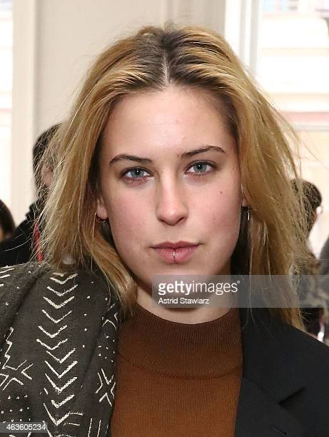 Scout Willis attends Eckhaus Latta Front Row during MADE Fashion Week Fall 2015 on February 16 2015 in New York City