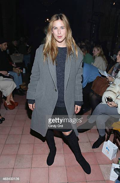 Scout Willis attends the Rodebjer fashion show during MercedesBenz Fashion Week Fall 2015 at The Bowery Hotel on February 13 2015 in New York City