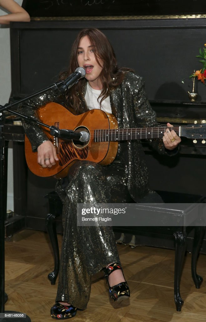 Scout Willis performs during Alice + Olivia By Stacey Bendet fashion show, New York Fashion Week: The Shows at Gallery 2, Skylight Clarkson Sq on September 12, 2017 in New York City.