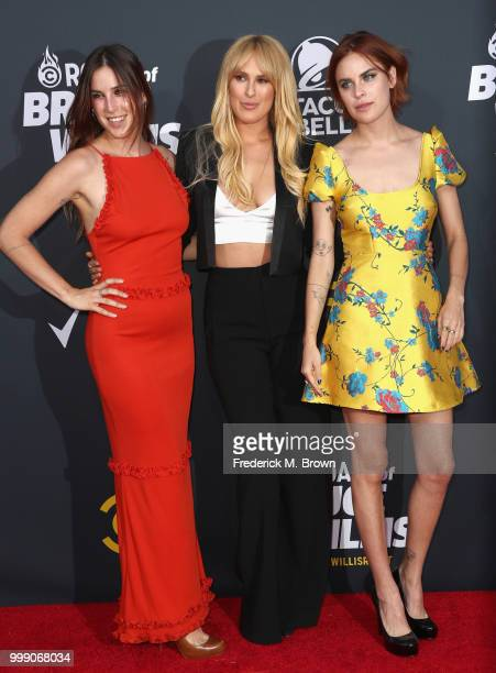 Scout Willis, Rumer Willis, and Tallulah Willis attend the Comedy Central Roast of Bruce Willis at Hollywood Palladium on July 14, 2018 in Los...