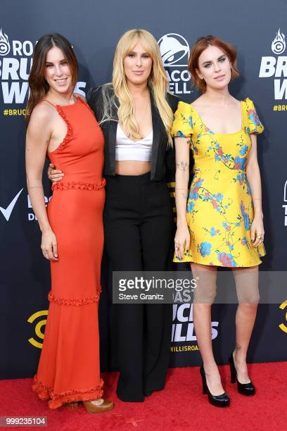 Scout Willis Rumer Willis and Tallulah Willis attend the Comedy Central Roast of Bruce Willis at Hollywood Palladium on July 14 2018 in Los Angeles...