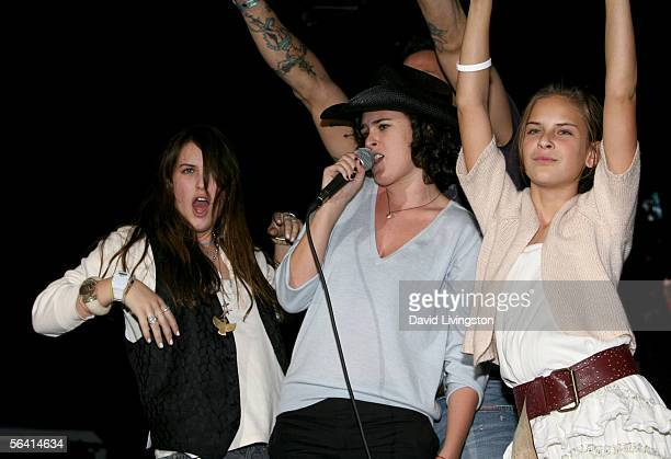 Scout Willis Rumer Willis and Tallulah Willis perform onstage during Playstation BANDtogether a benefit presented by Sony Computer Enterainment...