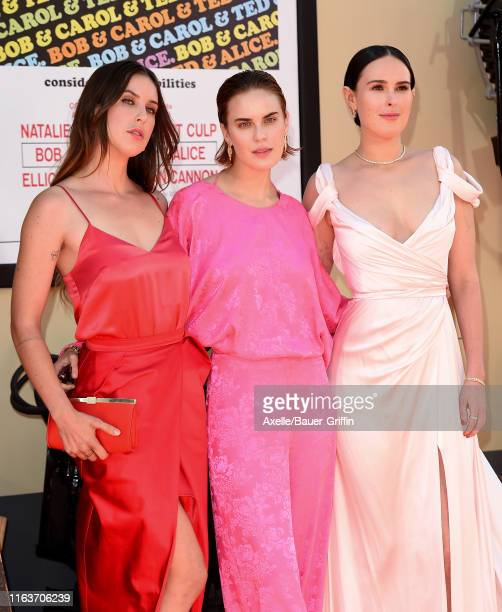 """Scout Willis, Tallulah Willis and Rumer Willis attend Sony Pictures' """"Once Upon a Time ... In Hollywood"""" Los Angeles Premiere on July 22, 2019 in..."""