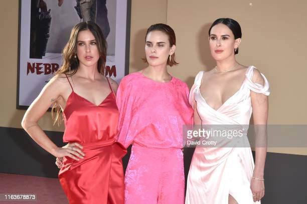 """Scout Willis, Tallulah Willis and Rumer Willis attend The Los Angeles Premiere Of """"Once Upon A Time In Hollywood"""" at TCL Chinese Theatre on July 22,..."""