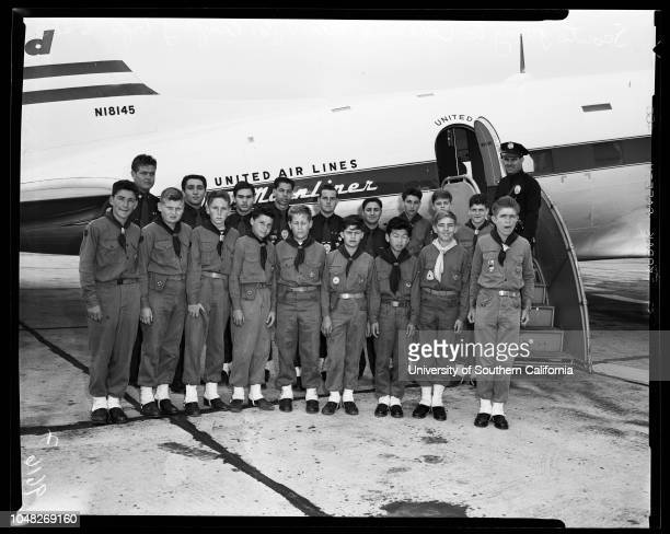 Scouts go to Catalina Island 21 June 1952 18 boy and explorer scouts go to Catalina islands for camping trip and to earn merit badges Police officer...