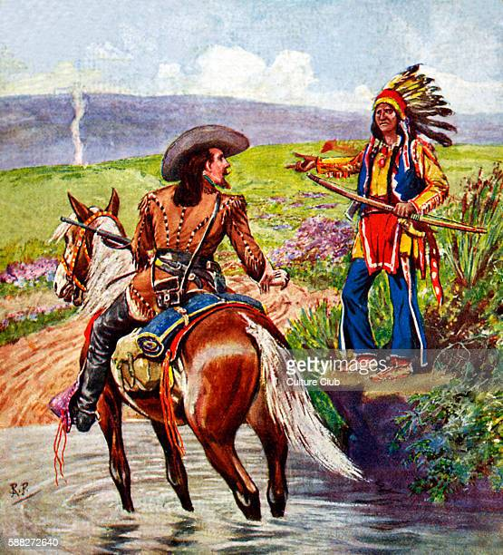 Scouts of the Great Wild West with Buffalo Bill on Track and Trail Book cover illustration 1925