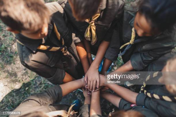 scouts unity - girl scout stock pictures, royalty-free photos & images