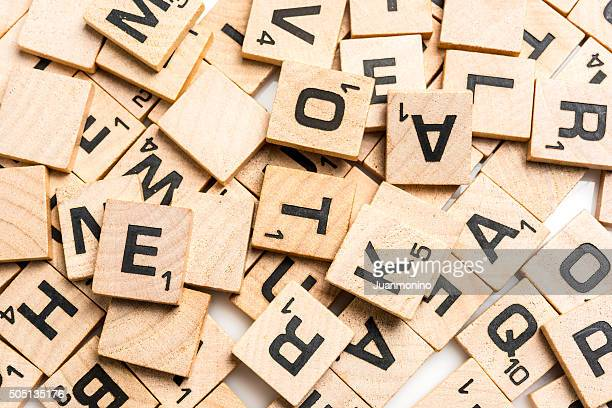 scrabble letters - single word stock pictures, royalty-free photos & images
