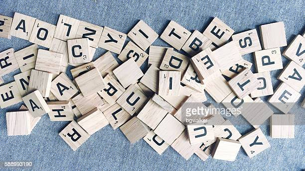Scrabble Tile Letters in a Pile