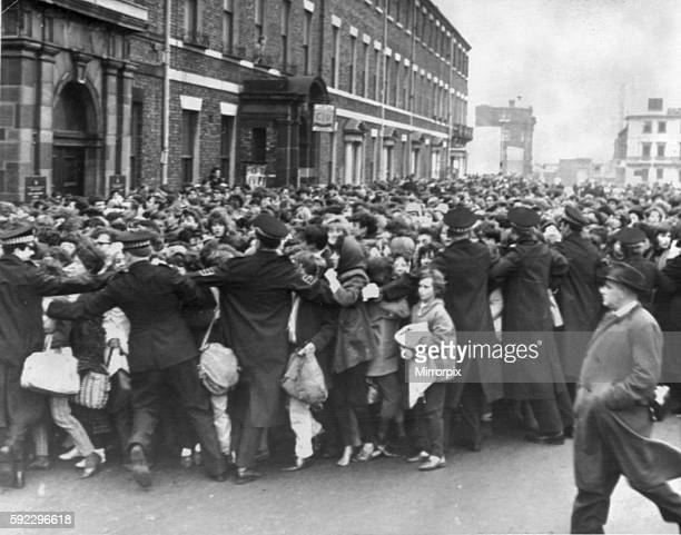Scramble for tickets ahead of Beatles concert at City Hall on 23rd November 1963. Evaluation Scan Only - If you require a high resolution copy,...