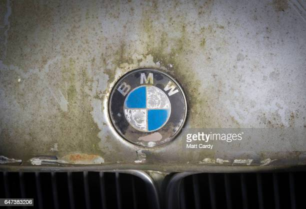 A scrap BMW car waits to be processed at Pylle Motor Spares and Metal Processing a licensed scrap yard in Pylle near Shepton Mallet on March 2 2017...