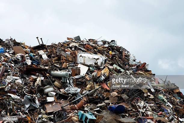 scrap heap - junkyard stock photos and pictures