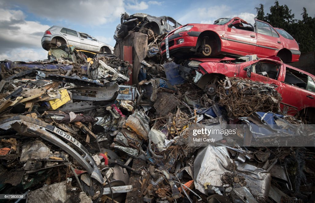 End Of Life Vehicles Are Scrapped At A Traditional Car Breakers ...