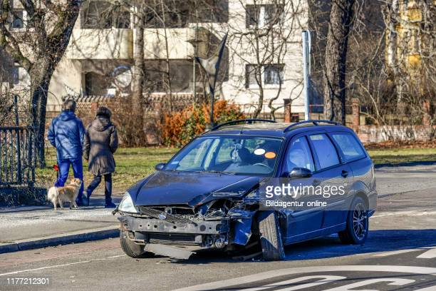 Scrap metal car, black wild boar street, village Wilmers, Berlin, Germany, Schrottauto, Schwarzbacher Strasse, Wilmersdorf, Germany.