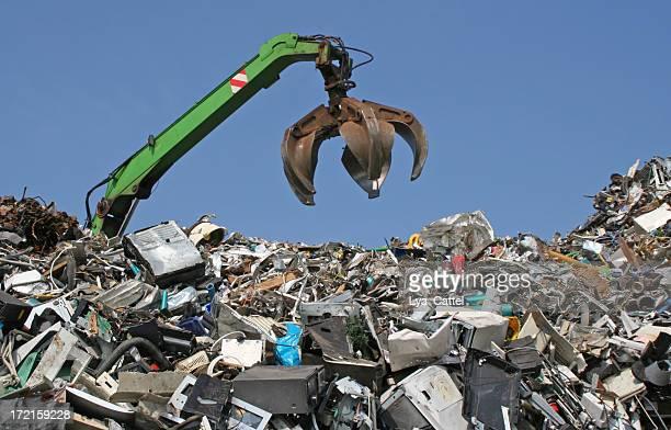 scrap metal, iron and computer dump # 9 - junkyard stock photos and pictures