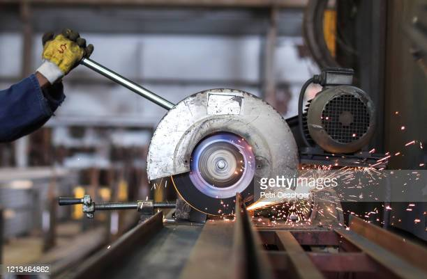scrap metal recycling facility. - steel stock pictures, royalty-free photos & images