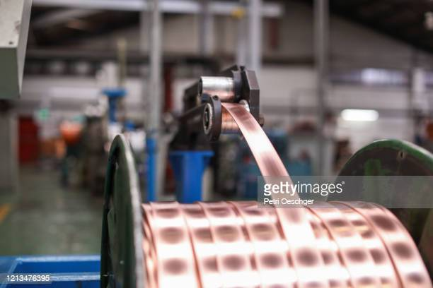 scrap metal recycling facility. - life cycle stock pictures, royalty-free photos & images