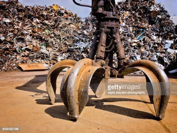 scrap yard - junkyard stock photos and pictures