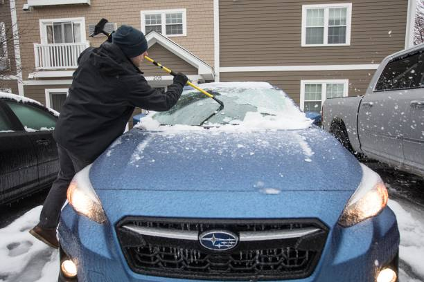 Winter Storm Brings Snow And Ice Conditions To Northeast
