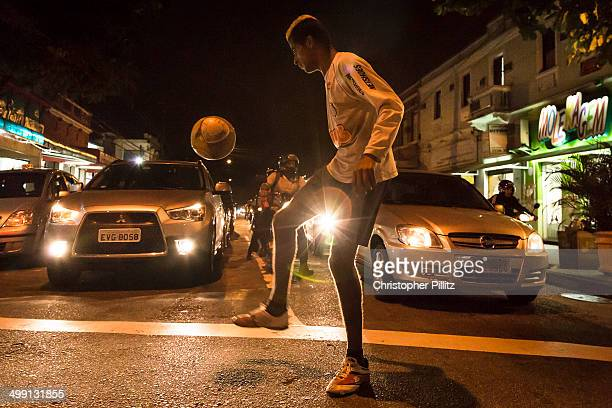 Scraping a living with a football on streets