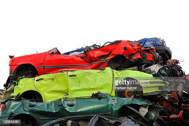 scrapped cars - scrapped cars stock photos and pictures