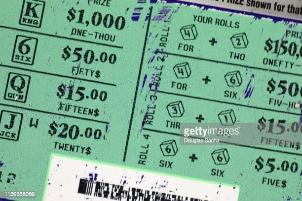 scratch off lottery ticket - lotterytickets stock pictures, royalty-free photos & images