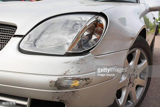 A scratch on a car