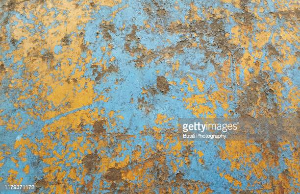 scratched surface with paint and rust stains - rust colored stock pictures, royalty-free photos & images