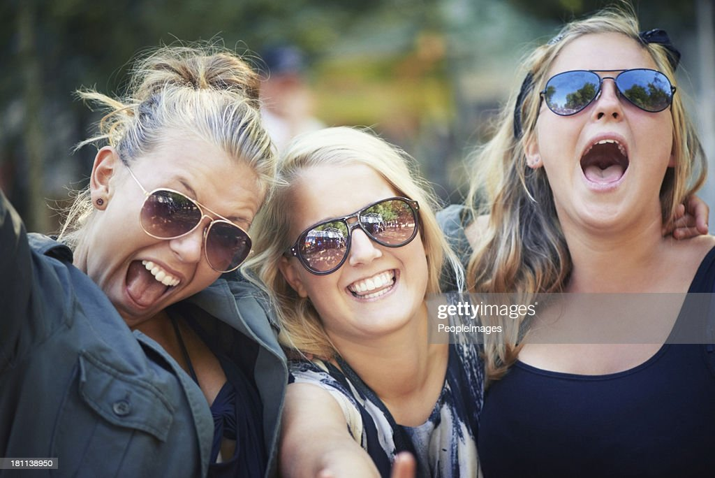 Scream if you love it! : Stock Photo