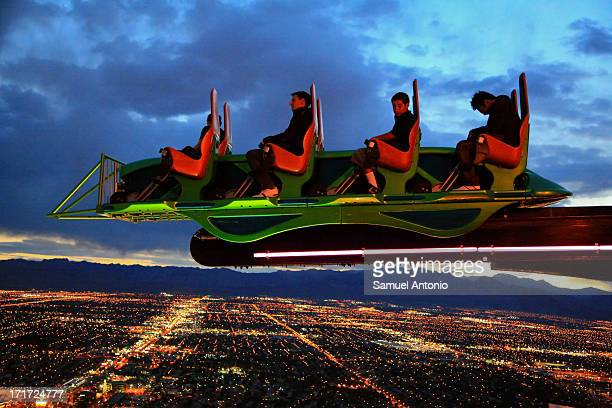 Scream is one of the world's highest extreme ride atop of the Stratosphere Hotel and Casino in Las Vegas, Nevada, United States, North America. Taken...