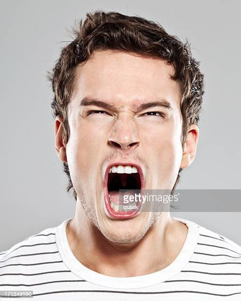 scream - mouth open stock pictures, royalty-free photos & images