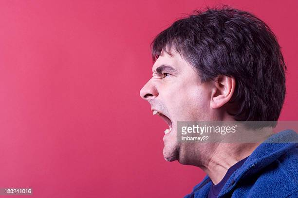 scream - crazy dad stock photos and pictures