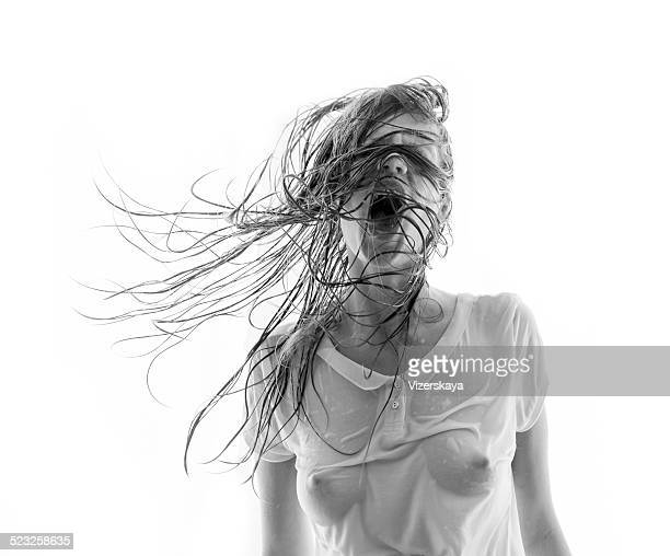 scream - wet t shirts stock pictures, royalty-free photos & images